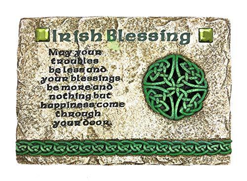 YMG Home Decor Celtic Irish Blessing Wall Plaque Traditional Catholic Stone Resin