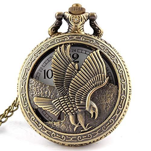 DIHAO Taschenuhr Vintage Antike Bronze Tisch Taschenuhr Halskette Anhänger Geschenk