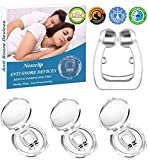 Anti Snoring Devices Snoring Solution Silicone Magnetic Anti Snore Clipple Stop Snoring Nose Device Professional Sleeping Relieve Snore for Men Women (3 Pack)