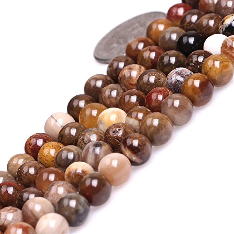 JOE FOREMAN 6mm Brown American Silicified Wood Opalite Semi Precious Gemstone Round Loose Beads for Jewelry Making DIY Handmade Craft Supplies 15