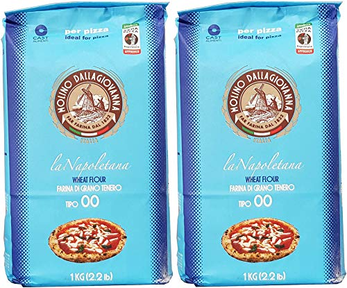 Type 00 Flour for Pizza - 2x1kg (Molino Dallagiovanna) ( Pack of 2 )
