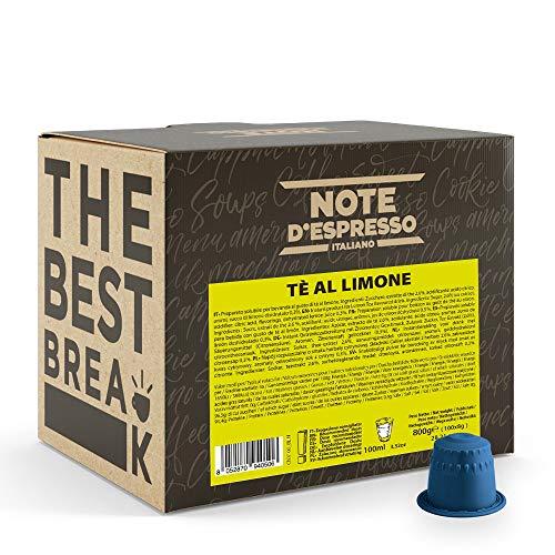 Note D'Espresso Preparato Solubile per Bevanda al Gusto di Tè al Limone, Compatibili Soltanto con le Macchine per Caffè a Capsule Nespresso
