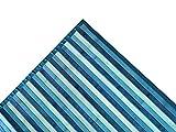 tex Family - Alfombra de cocina Woody de madera de bambú azul y verde marino, todos los tamaños, 50 x 75 cm.