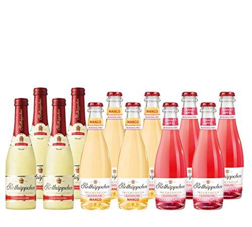 Rotkäppchen Fruchtsecco Alkoholfrei Granatapfel, Mango und Rotkäppchen Alkoholfrei (12 x 0.2 l)
