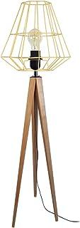 Tosel 51306 Lampadaire 1 Lumière, Bois, E27, 40 W, Ivoire, 30 x 150 cm