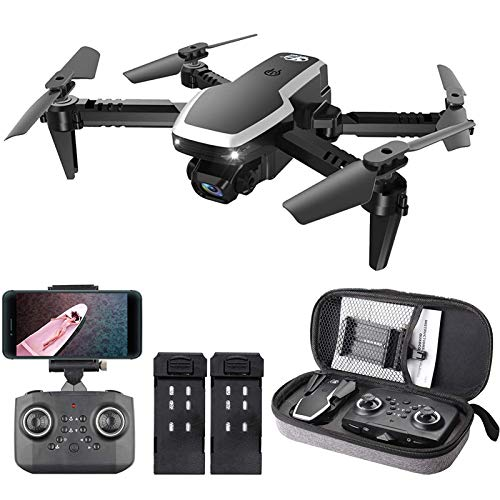 KLJJQAQ RC Drone with Dual Camera, 4K HD WiFi FPV Mini Drone for Kids and Adults, Foldable RC Quadcopter with 3D Flip, Headless Mode, Altitude Hold,2 Batteries