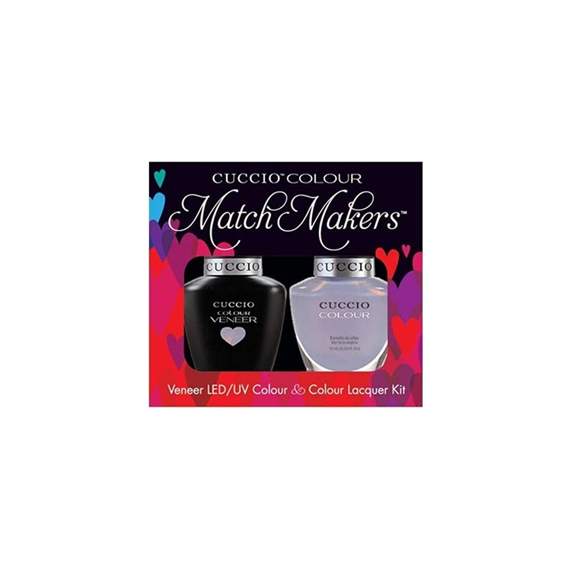 パケット礼儀月Cuccio MatchMakers Veneer & Lacquer - Message in a Bottle - 0.43oz / 13ml Each