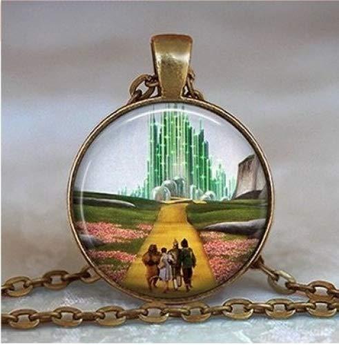 Yellow Brick Road Pendant, Wizard of Oz Necklace, Oz Jewelry, Emerald City Pendant, Oz Pendant