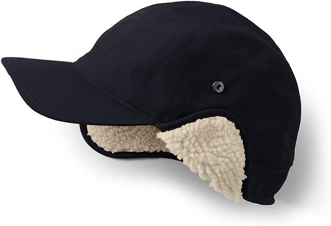Lands End Mens Squall Sherpa Lined Waterproof Winter Hat