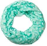 styleBREAKER fular de tubo con motivo de puntos, ligero y sedoso, pañuelo, mujeres 01016111, color:Jaspeado Vintage Menta-Blanco