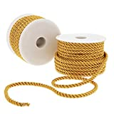 Gold Craft Rope Cord, Twisted Trim String (36 Yards, 2 Pack)