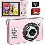LINNSE Fotocamera Digitale Compatta 30MP 2,7 pollici con zoom digitale 8X con scheda SD da...