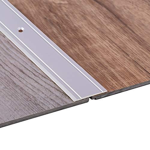 Gedotec Alu Übergangsprofil flach Bodenprofil Tür Übergangsschiene Laminat - Parkett - Vinyl UVM. | Breite 37 mm | Türschwelle gelocht | Aluminium Silber eloxiert | 1 Stück - Ausgleichsprofil 100 cm