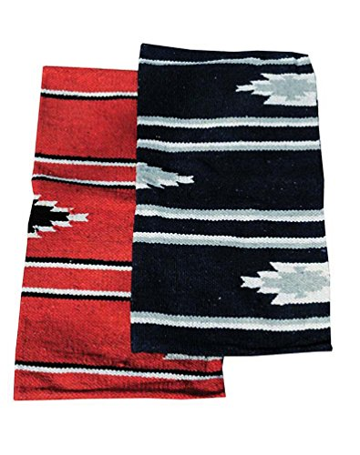 Reitsport Amesbichler AMKA Westernpad rot Pony Sattel Navajo Decke 26 x 26 Inch, 66 x 66 cm Western Satteldecke für Ponysättel Saddle Blanket
