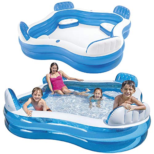 Intex 56475NP - Aufblasbares Swim Center Family Lounge, 90 x 90 x 26 Zoll