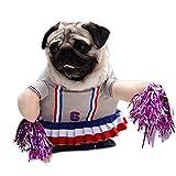 LLSS Divertido Disfraz de Gato para Mascotas - Traje de Cosplay de Jugador de béisbol de animadoras Traje de Fiesta de Navidad de Halloween Ropa para Cachorro Disfraz de Perro Ropa para