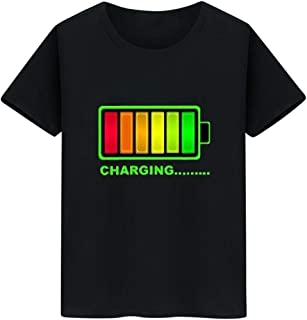 YSY-CY Men T Shirt Hot sale Sound Active Equalizer El T shirt Equalizer Light up down led t shirt Flashing music activated led t-shirt Suitable for outdoor travel/daily wear at work
