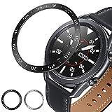 Syxinn Anello Castone per Samsung Galaxy Watch 3 45mm Anello Lunetta Acciaio Inossidabile Bezel Styling Cerchio Cover Adesiva Anti graffio Decorativo Rotante quadrante di Protezione