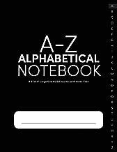 A-Z Alphabetical Notebook 8.5