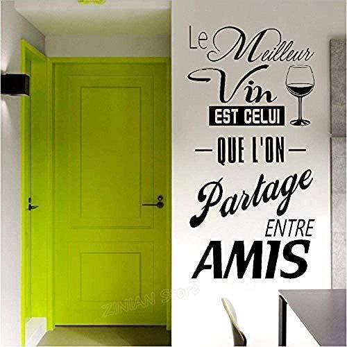 Arte, vinilos decorativos y murales, vinilos decorativos, vinoteca francesa, cocina, personajes, 29X56Cm