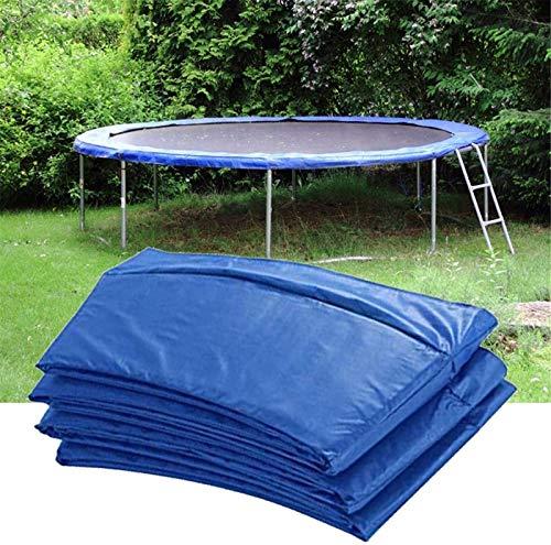Chang trampolino di ricambio per trampolino, tappeto elastico di sicurezza, ammortizzante, per esterni, rotondo, impermeabile, blu, 3 m