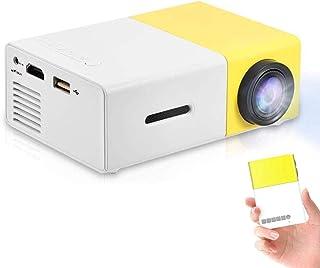 جهاز عرض LED صغير محمول بدقة 320 × 240 دقة مادية لدعم المسرح المنزلي USB/TF/HDMI/AV الذكي في الاماكن المغلقة او بالخارج مع...