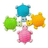 Oyfel Goma gomas gomas gomas gomas gomas lindas tortugas pequeñas gomas de borrar Set Papelería Novedad Escolar Oficina Niños Estudiantes DIY Dibujo 1pcs