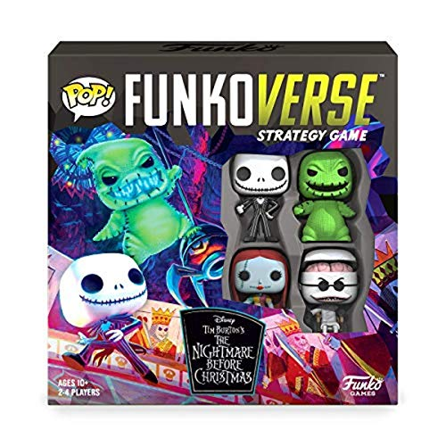 Funkoverse: Disney The Nightmare Before Christmas 100 4-Pack Board Game - Amazon First to Market Exclusive, Multicolor