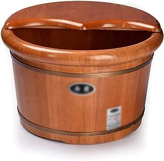 Qing MEI Wooden Foot Bath Barrel Foot Bath Barrel Foot Bath Tub Foot Bath Pedicure Barrel with Cover Wooden Foot Bath Tub A++