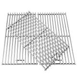 BBQration 3-Pack SS5S74C 18 7/8' 7MM Solid Stainless Steel Cooking Grid Grates Replacement Parts for Kitchen Aid 720-0745, 720-0745A, 720-0819, Nexgrill Gas Grill Model 720-0745, 720-0745A