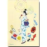夏のイラストポストカード 「夏祭り」 浴衣絵葉書 暑中見舞い