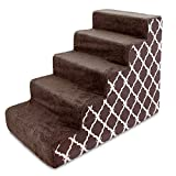 'Best Pet Supplies USA Made Pet Steps and Stairs with CertiPUR-US Certified Foam for Dogs and Cats'