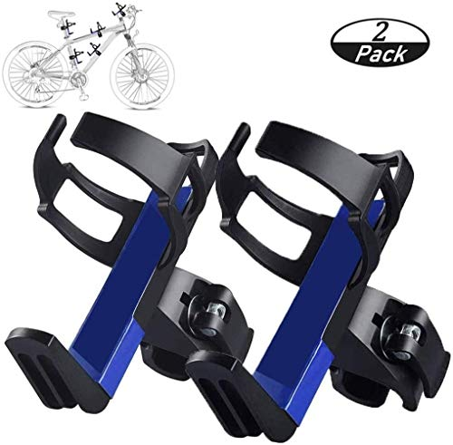 XJJ 2 Pack Portable Water Bottle Holder, Bicycle Water Bottle Mount Cage with 360 Degree Rotation Rack Rotary Clips Adjustable Bike Cup Cage Frame for Road Mountain Bikes Bike Accessories Kids