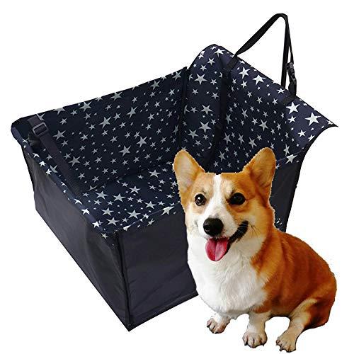 Funda para asiento de picnic y coche para mascotas, alfombrilla impermeable para coche de tela Oxford (para mascotas, asiento trasero) ajustable 60*55*35 cm