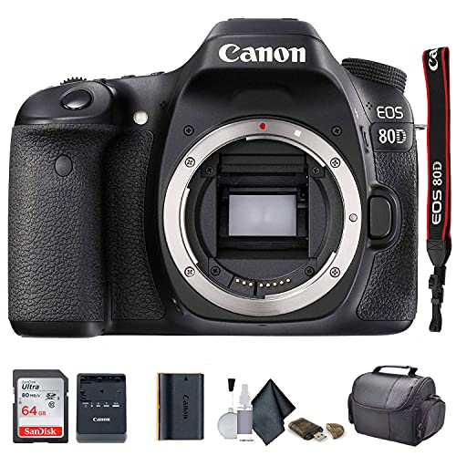 Canon EOS 80D DSLR Camera (1263C004) - Starter Bundle (Renewed)