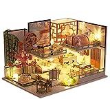 Blanket Kits de Manualidades para Habitaciones de Manualidades, Kit de casa de muñecas en Miniatura para Bricolaje, casa de jardín con Muebles y música, los Mejores Regalos de cumpleaños para Adultos