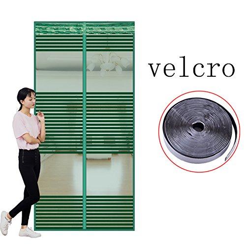 Velcro Magnetisch vliegengaas, mesh muggennet om op te hangen, deur, zomer, voor thuis, slaapkamer, keuken, markt, hoge denisity afgesneden winddicht 80x205cm(31x81inch) U