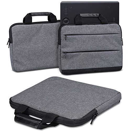 Schutzhülle für Wacom Intuos Pro M PTH-660 PTH-650 Grafiktablett Tasche Sleeve Case Stifttablett Hülle in Grau oder Blau Tragetasche mit Griffen Universal Schutztasche, Farbe:Dunkel Grau (Dark Grey)