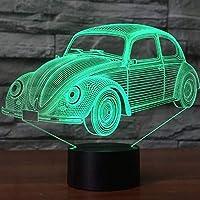 7色ビジュアル車モデル3D Ledランプ7色3Dナイトライトクールボーイルームの装飾誕生日ギフト雰囲気ランプ