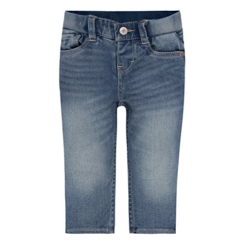 Levi's Baby Girls' Skinny Fit Jeans, Weathered Indigo, 18M