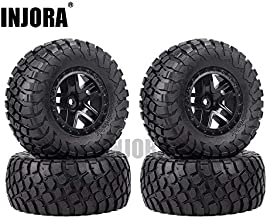 INJORA 4PCS Rubber Tire Wheel Rim for 1/10 Short Course Car TRAXXAS Slash VKAR 10SC (AX4006)