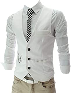 Mens Coat Solid Office OL Tailored Fit Vest