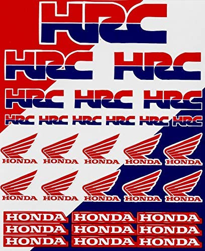 Enjoy Mfg Motorcycle Sticker Sheet Decal Graphics Compatible Fit for Honda (HRC Racing)