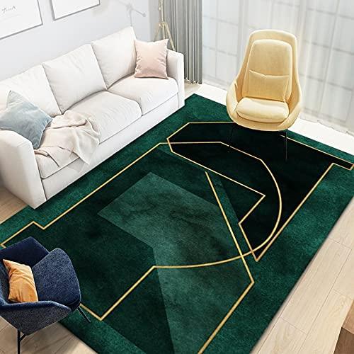 Tappeto Verde Moderno E Semplice con Righe Lavabile in Lavatrice Rettangolare Varie Dimensioni Tappetini Antiscivolo Spessi Adatto per Centri Commerciali Hotel Decorazioni per Banchetti Casa