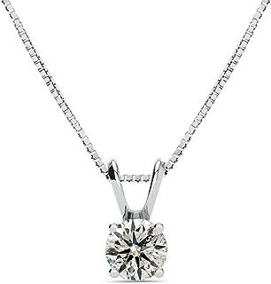 2 carat diamond pendant