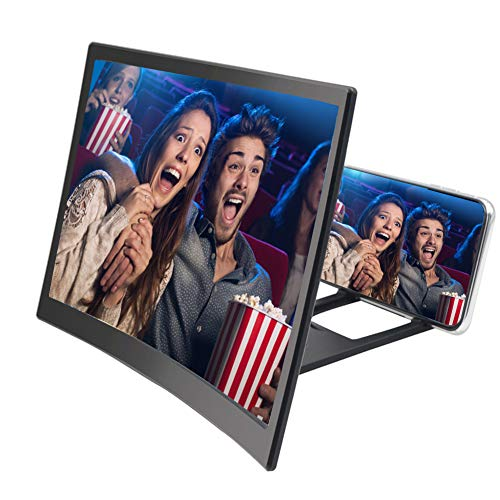 Gizayen Mobile Phone Screen Magnifier 12 Inch HD Video Amplifier Stand for Smartphone, Mobile Phone Magnifier Projector Screen for Movies, Videos, and Gaming