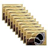 Permotary 30 Pairs 24K Gold Gel Collagen Eye Pads,Crystal Collagen Under Eye Mask for Moisturizing,Reducing Fine Lines&Dark Circles& Puffy Eyes Under Eye Patch for Women Men, Black