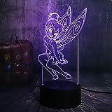 Illusion optique 3D, interrupteur tactile de nuit LED avec acrylique, base ABS,...