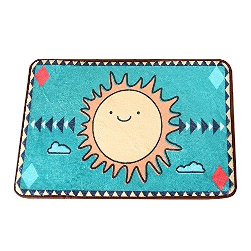 GRENSS Cartoon Cute Cactus Teppiche Kinderzimmer Matten Eingang Fußmatte Non-Silp Wolldecken für Küche/Bad Teppiche waschbar Matten, B, 400 mm x 600 mm