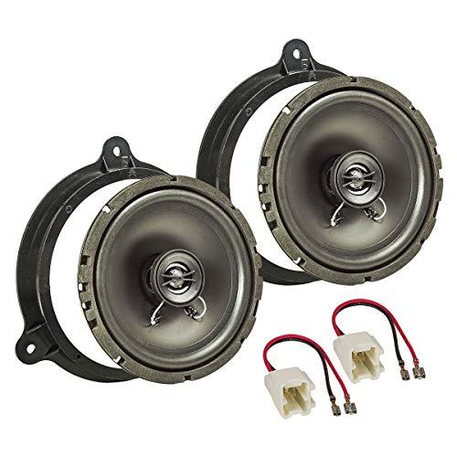 Tomzz Audio 4009-000 Kit de montage pour haut-parleurs pour Dacia Sandero II à partir de 2012, Lodgy à partir de 2012, Dokker à partir de 2012, Duster à partir de 2018, système coaxial TA16.5-Pro